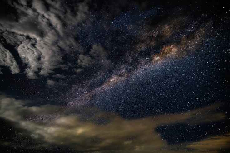 stars and clouds at nighttime